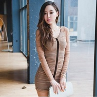 2012 Newly Autumn And Winter Fashion  All-match Candy Color sStripe Turtleneck Slim Sweater LYXF217