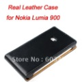 free shipping Genuine Leather case for Nokia Lumia 900, For Nokia Lumia 900 case, real leather material