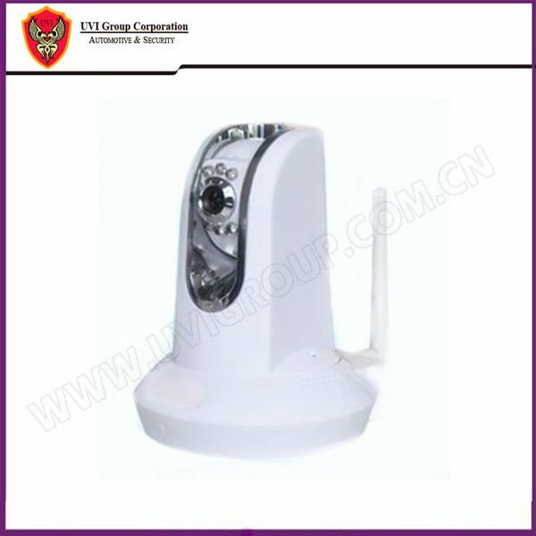 EMS Free Shipping! Portable wireless indoor P/T IP Camera Motion detetion Remote Warning Dome Camera UVI-IP05(China (Mainland))