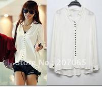 HOt SALE!! Free shipping  women's white shirts outerwear,women  blouses