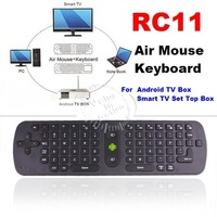 [Wholesale 10pcs/lot] 2.4G RC11 Wireless Air Mouse w/ Keyboard Combination Remote Controller for Android TV Box Smart TV Top Box