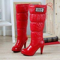 Туфли на высоком каблуке 2012 style leather pumps shiny pointed toe lacing wedges platform pumps - b10 NN1005
