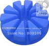 Wholesale ,Silicone 10 hole Great circle triangle Shapes Cake Mould  ,free shipping