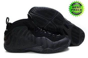 Fast Shipping Wholesale Famous Trainers Air Foamposite Pro Men's Sports Basketball Shoes (black / black)