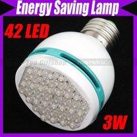 3W JY-388 42 LED Energy Saving Screw Lamp White Light Bulb #1358