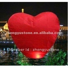 Supply Hot Sale Heart Shape sky lantern