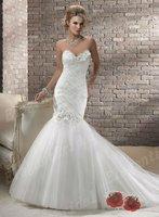 2013 New Design Trumpet Wedding Dress Free Shipping