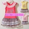 2-6Y Wholesale Apple embroidery kids cotton girl dresses summer 2012. knitted cute children&#39;s wear
