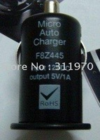 50pcs/lot free shipping high quality mini car charger for iphone ipod USB Interface black white ...