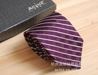 Brand Tie Purple Striped Tie men's business suits, Sang Cansi silk tie