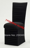 ruffle  Spandex Chair Cover/black  color square top