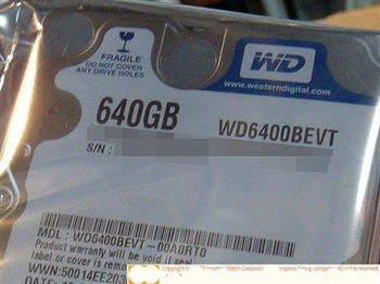 Free Shipping Factory direct 2.5-inch WD6400BPVT 640G notebook hard drive  Original authentic  discount