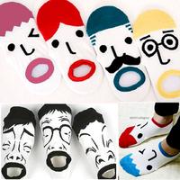 New arrivel Wholesale Cotton Blends Men Sport Ankle Socks OK For Funny face Free Shipping