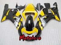 Black yellow body for GSXR 600 750 01-03 GSXR600 GSXR750 2001-2003 GSX R600 R750 01 02 03 2001 2002 2003 ABS Fairing kit + gift