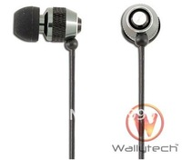 10pces/lot Free shipping Metal Earphone Handsfree Headset Headphone For iPhone Blackberry HTC earphone MP3 MP4