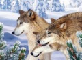 "25*35mm PET 3D high definition decorative picture of "" Wolf "", accept mix order"