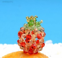 Discount activity, Free shipping, crystal pineapple mobile phone hang adorn ,8pieces/lot.
