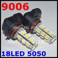 Free shipping 2pcs/lot 9006(HB1) 18 SMD 5050 Car LED FOG LAMP Light High Beam Light Car Auto / Tail / Head light