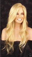 Beautiful long blonde wavy full wig/wigs