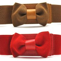 Yf0133 brief bow wide belt elastic waist belt women's cummerbund