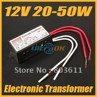 New 12V 20-50W LED Power Supply Driver Electronic Transformer Black free shipping