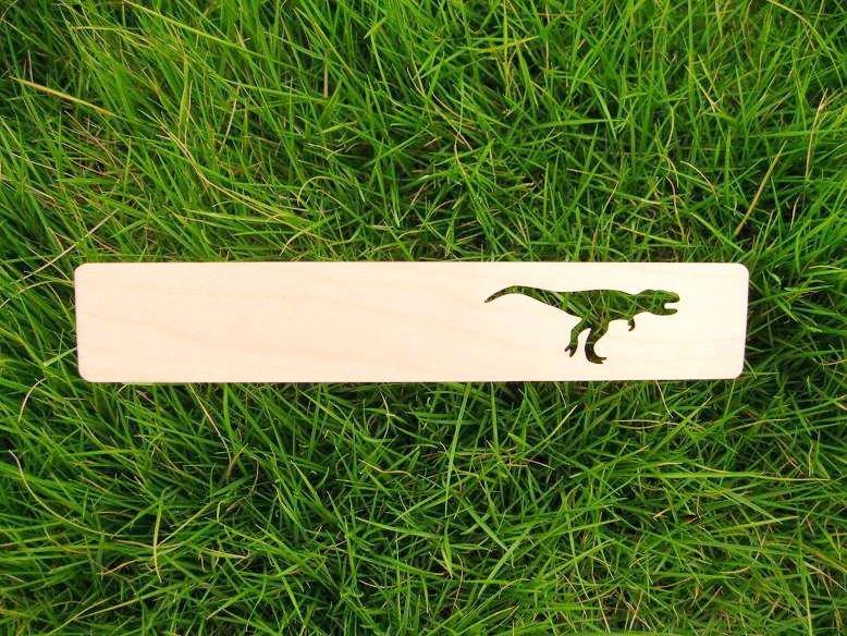 Tyrannosaurus Rex dinosaur wood bookmark(China (Mainland))