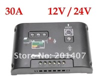 10pcs /lots 30A 12V/24V PWM Solar Street Light Panel Charge Controller Regulator Auto switch