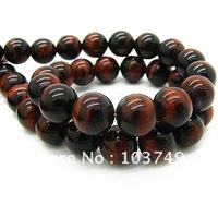 10mm Red Tigereye Beads For Necklace 40pcs/lot Wholesale Tiger Beads For Jewelry Rondelle Loose Beading Free Shipping HA832