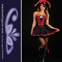 Free Shipping Hot 2013 Fashion Fancy Dress Pirate Costume Sexy Women Vixen Pirate Wench Adult Cosplay Women Pirate Party uniform