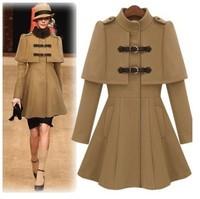 женщины европейский стиль шерсть шерстяное пальто зима мода и пиджаки пальто