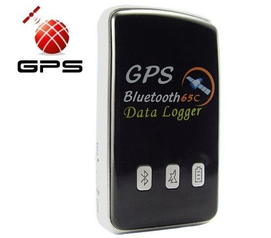 Handheld Portable Bluetooth GPS Receiver 65-Channel Car Navigation and Tracking With Data Logger Function Free Shipping(China (Mainland))