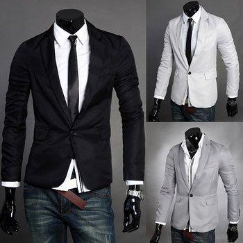 2012 NEW autumn and winter,  figure flattering elegant cool men's blazer jacket coat