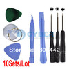 Free Shipping 10sets/Lot Repair Opening Tool Kit With 5 Point Star Pentalobe Torx Screwdriver iPhone 4 4G(China (Mainland))