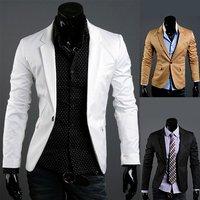 2012 NEW excellent quality,  one button slim elegant cool men's blazer jacket coat