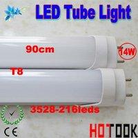 Wholesale 900MM T8 Tube Light G13 14W 90CM 3528 216leds Tube Light 85V~265V warranty 2 years CE RoHS x 40 PCS - ship via express
