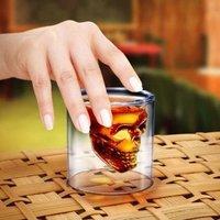 Free shipping Doomed Crystal Skull Shot Glass/Crystal Skull Head Vodka Shot Wine Glass Novelty Cup#8749