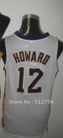 Free Shipping,#12 Dwight Howard Basketball Jersey,Wholesale/Retail Jersey,Embroidery logos,Size 44-56,Mix Order
