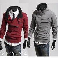 2012 NEW excellent quality,  mandarin collar elegant cool men's hoodies fleeces jacket coat