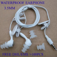lot of 50pcs wholesale 3.5mm Earphone Headphone for waterproof mp3 player