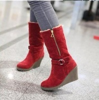 Free Shipping ,High Quality Ladies Fashion winter boots ,Women's sexy zip decoration half boots .