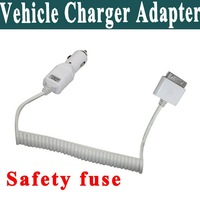 NEW Arrival !!! Car Auto Vehicle charger for iphone 3G/3GS Built-in safety fuse Short circuit and overloading protection