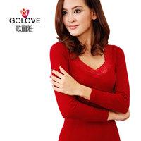 V-neck sexy body shaping women's thin long johns thermal underwear modal seamless elastic