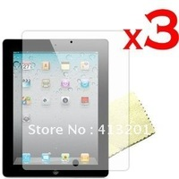 New Premium Reusable Screen Protector with Cleaning Cloth for  pad 2 Free shipping