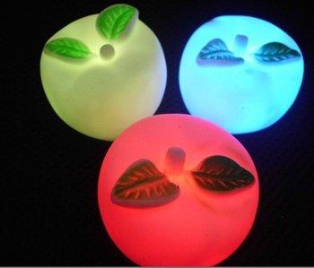 new arrive 2014   wholesale  night light  led apple night light change Color  30PCS/LOT