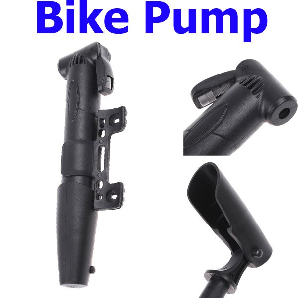 Top sale Mini Portable Bicycle Bike Air Pump Tyre Tire Ball Black, Free Shipping Wholesale(China (Mainland))