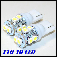 Wholesale 50pcs/lot DC12V White 168 192 W5W T10 10 LED 3528/1210 SMD LED Car Auto Bulbs LED Signal Lights
