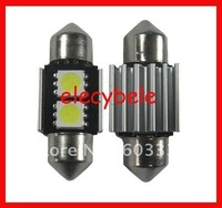 Free Shipping No Error Canbus LED Car Light for BMW Benz Audi 31mm 2SMD 5050 LED Door Light aliexpress alibaba white 200pcs/lot