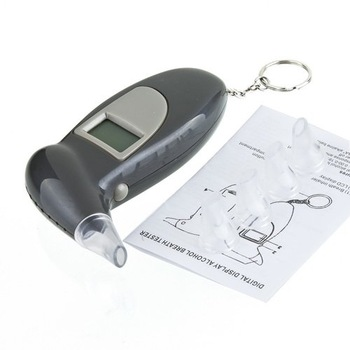 NEW Professional  LCD Display Digital Breath Alcohol Tester Breathalyser free shipping