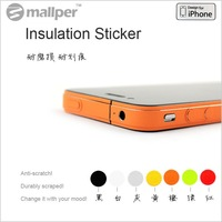 Colorful Side Bumper Insulation Edge Sticker Skin Cover For iPhone 4S (200pcs/Lot + FREE SHIPPING)