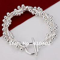 Браслет H099 Factory Price Silver Plated star pendant chain link Bracelet bracelet silver jewelry